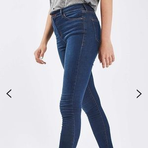Topshop Leigh Jeans Blue skinny jeans 25